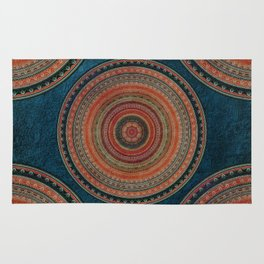 Earth Tone Colored Mandala Rug