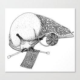 Crafty Slug Canvas Print