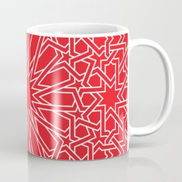 Moroccan Pattern 4 Outline Red Coffee Mug