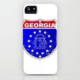 Georgia Interstate Sign iPhone Case