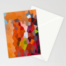 Pixelated Lanterns in Joy and Orange Stationery Cards