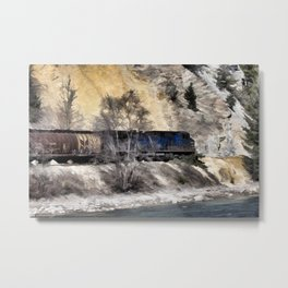 Rocky Mountain Ranger Train Metal Print
