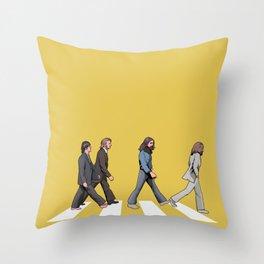 Yellow Abbey Road Throw Pillow