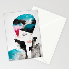 Color-bleed Portrait of a Rocker Stationery Cards