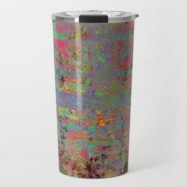Neon Charred Abstract Travel Mug