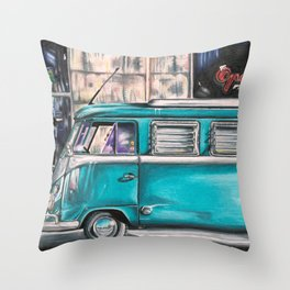 Hippie Van Throw Pillow