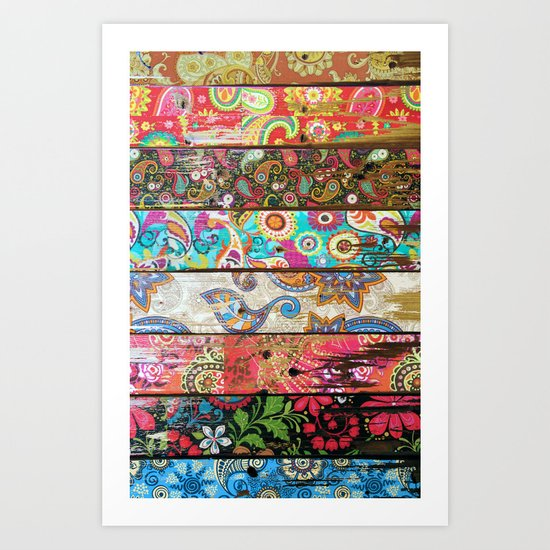 Paisley Planks Art Print