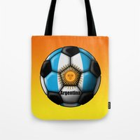 argentina Tote Bags featuring Argentina Ball by kuuma