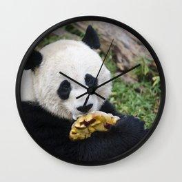 Panda Likes Wall Clock