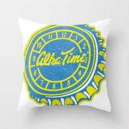 Vintage Alka-Time Soda Pop Bottle Cap Throw Pillow