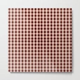 Diamonds maroon vermilion pink Metal Print