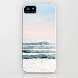 Pink Sky Ocean View iPhone Case