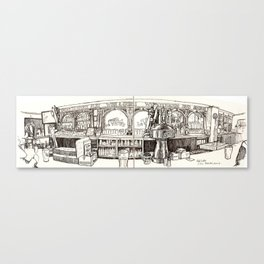 de vere's irish pub, davis Canvas Print