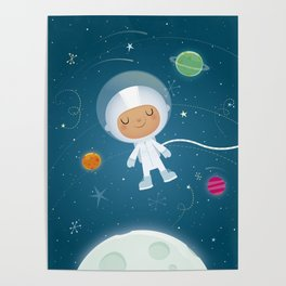 Little Astronaut Poster