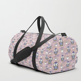 Owls (blue and pink) Duffle Bag