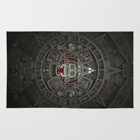 calendars Area & Throw Rugs featuring Stone of the Sun I. by Dr. Lukas Brezak