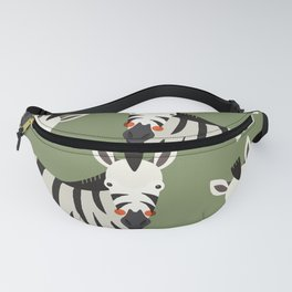 Zebra, Animal Portrait Fanny Pack