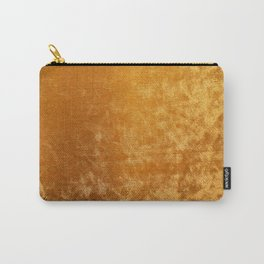Gold colour velvet fabric background texture Carry-All Pouch