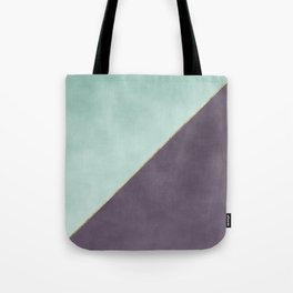 Modern abstract geometrical mint dark lavender watercolor Tote Bag