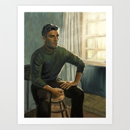 Oscar Isaac in Operation Finale Art Print