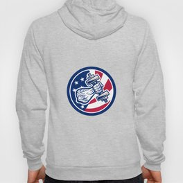 American Personal Trainer USA Flag Icon Hoody