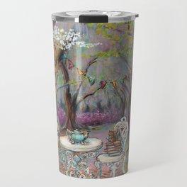 Vintage Woodland Tea Party Travel Mug