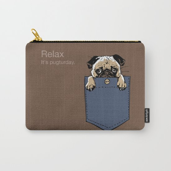 Pugturday Carry-All Pouch