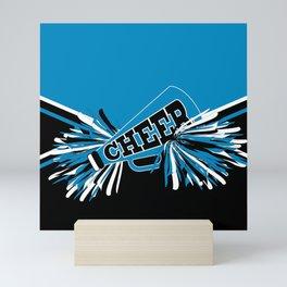 Blue Cheerleader Mini Art Print