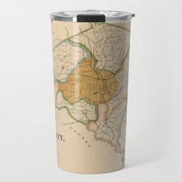 Map Of Athens 1898 Travel Mug