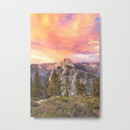 Yosemite Valley Summer Sunrise Metal Print