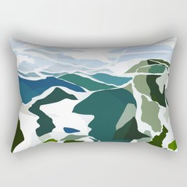 green mountains Rectangular Pillow