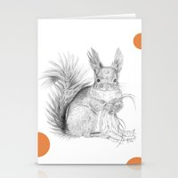 squirrel Stationery Cards featuring Squirrel by Ora Kolmanovsky