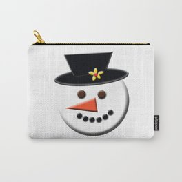 Snowman Head Digital Art Carry-All Pouch