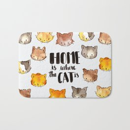 HOME is where the CAT is Bath Mat