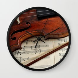 Old violin Wall Clock