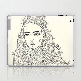 Woman with skulls earrings Laptop & iPad Skin