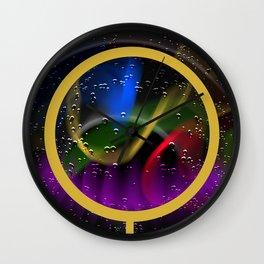 Drops through a magnifying glass Wall Clock