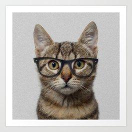 Hipster Cat Art Print
