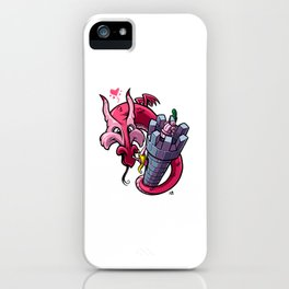 The Princess and the Dragon (and the poor knight...) iPhone Case