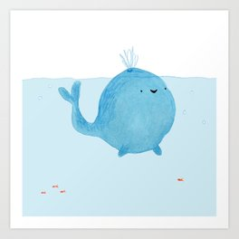 The Enigmatic Pudding Whale Art Print