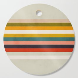 modern abstract stripe geometric Cutting Board