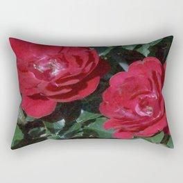 Red Rose Pair Rectangular Pillow