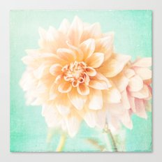 Flower Peachy Bloom Canvas Print