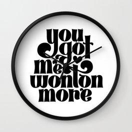 Wonton Wall Clock