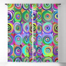 6x6 001 - abstract bouquet Blackout Curtain