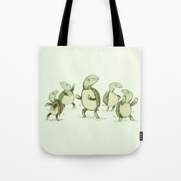 Dancing Turtles Tote Bag