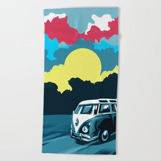 summer trip landscape 1 Beach Towel