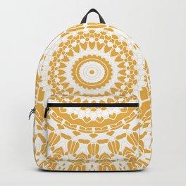 Goldenrod Yellow and White Mandala Backpack