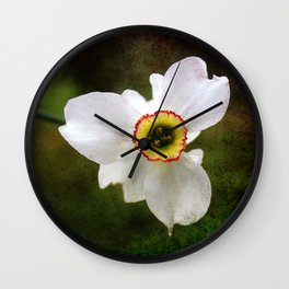 Narcissus poeticus Wall Clock