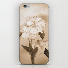 White Lilies iPhone Skin